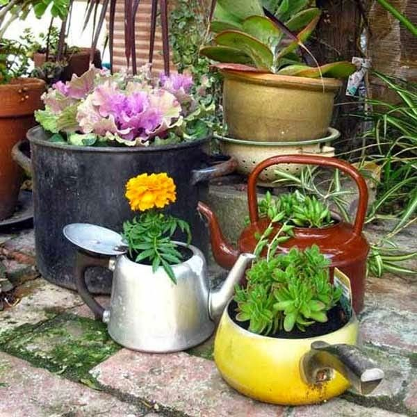 Old pots and pans..